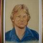 Portrait d'une idole au pastel. Peint La Vie