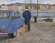 Honfleur with Citroen 2cv.
