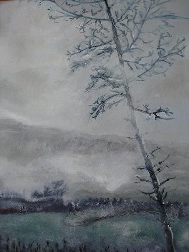 Neblige Herbstlandschaft. Peter Rudolf Müller