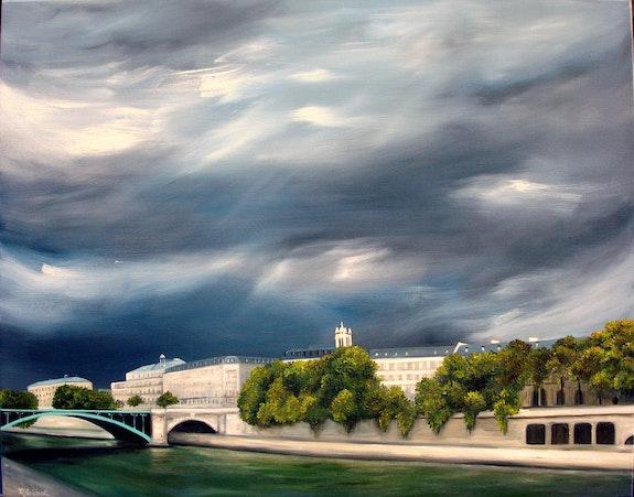 Paris, le Pont Notre Dame. Marie José Diébolt Marie-José Diebolt