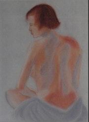 Akt I wurde in Pastell und Pastellpapier gearbeitet. Renate Scholz
