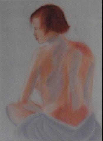 Akt I wurde in Pastell und Pastellpapier gearbeitet. Renate Scholz Renate Scholz