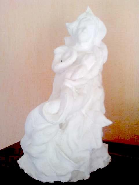 La vierge et l'enfant. Sybille Girard Sybartiste