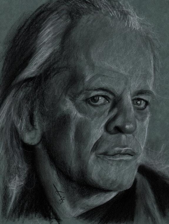 Portrait de Klaus Kinski. Philippe Flohic Philippe Flohic