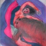 Femme au tigre. Marina Schneider