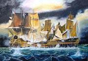 La bataille de trafalgar.