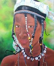 Jeune femme tribue des peuls.