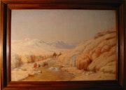Tableau de John Lewis shonborn «Montagne de sel à Djelfa en Algérie». Artgallery-Web.Com