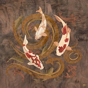 Koi Pond - Marquetry Art. Vincent Doan
