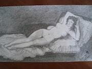 La Naja nue (d'après Goya). Dzovinar Melkonian