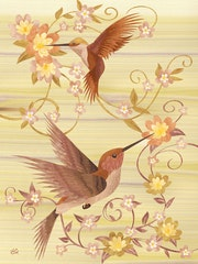 Hummingbirds Marquetry. Vincent Doan