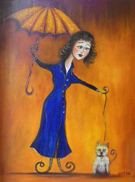 La Petite dame au Parapluie. Steva Steva