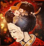 Femme geisha 2.