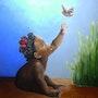 La petite fille et le papillon. Clara Pascual