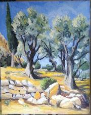 Les oliviers.