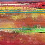 Trame, 2010 Techniques mixtes sur toile.