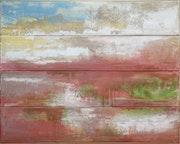 Bateau, 2010 Techniques mixtes sur toile.