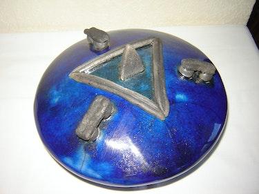 Boîte de décoration en Raku. Émilia