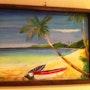 Soleil couchant en Polynésie. Philippe