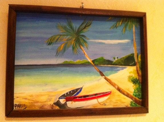 Soleil couchant en Polynésie. Parat Philippe