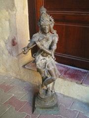 Krishna gopala, bronze du sud de l'Inde 20°s.