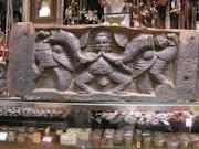 Vayu, dieu du vent, Tamil Nadû, sculpture bois dur 18/19°s.