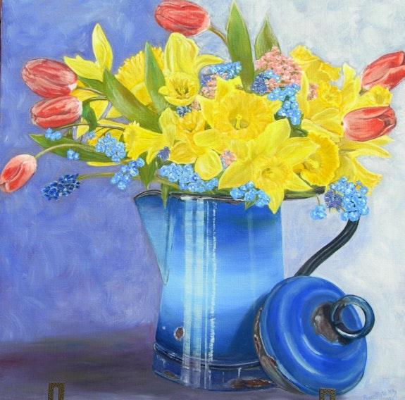 Jonquilles & Tulipe. Marie Ange Busellato