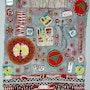 Rouge. Multitechniques en art-textile. Jomaray