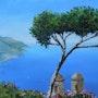 Vue Panoramique - Méditerranée aux bleus profonds. Peintre