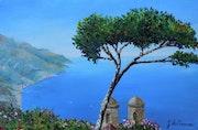 Vue Panoramique - Méditerranée aux bleus profonds.