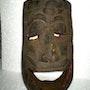 Masque ancien de chaman des moyennes collines du Népal.. Zone Libre Orient Shop
