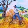 Agricultor en el trabajo. Christian Thiefaine