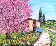Peach Tree in Bloom. Christian Thiefaine