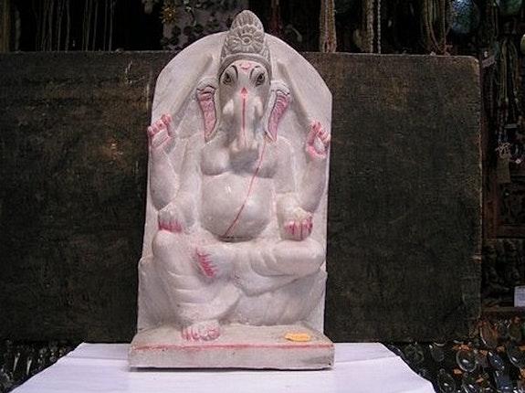 Ganesha, dieu qui exause les voeux, marbre de Makrana, début 20°s. Inconnu Zone Libre Orient Shop