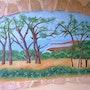 Fresque murale tipasa (non terminée). Ghislaine Phelut