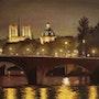 Minuit sur la Seine de Paris. Thierry Duval