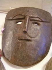 Masque animiste de chaman, de l'Himachal Pradesh, 19°s.