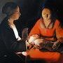 La Vierge a l enfant, d aprés Georges de la Tour. James
