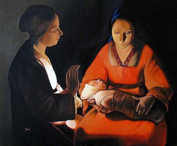 La Vierge a l enfant, d aprés Georges de la Tour. Maire James James