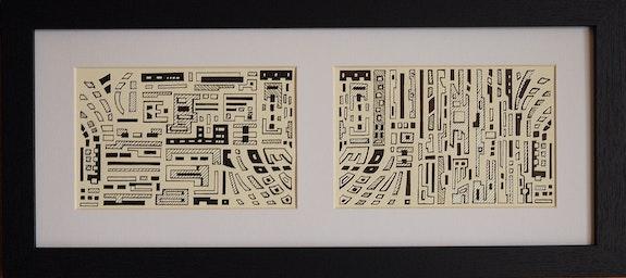 Urban mazes nr 2 (diptych). Éric Le Traou Éric