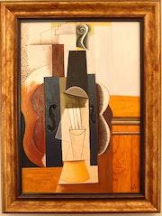 «Le Violon» d'après P. Picasso.