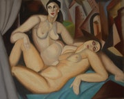 «The Two Girlfriends» based on T. De Lempicka.