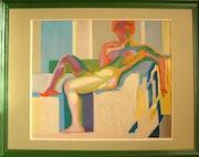 «Large Nude» based on F. Kupka.