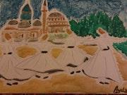 Mevlana à la mosquée Ala'ad-Dîn de konya, / derviches, tourneurs (Turquie). Ayda Bougattaya
