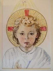Détail de Jésus enfant Fra Angelico.. Françoise-Elisabeth Lallemand