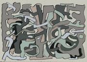 Grau Torsion, Kunstdruck auf alterungsbeständigem Papier.