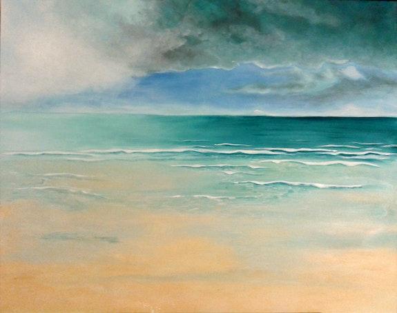 Orage et lumière sur la plage. Martine. M Martine Moricet