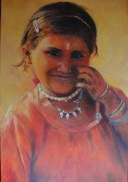 La fille aux colliers. Un Pinceau De Femme