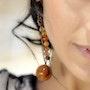 Boucles d'oreilles Larmes de croco. Elvie l'atelier