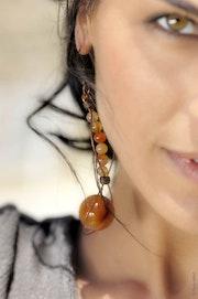 Boucles d'oreilles Larmes de croco.